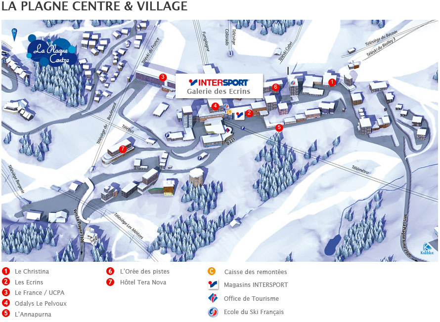Location de ski au magasin Intersport La Plagne Centre Village